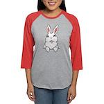Pocket Easter Bunny Womens Baseball Tee