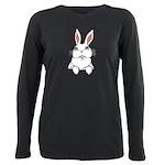 Pocket Easter Bunny Plus Size Long Sleeve Tee