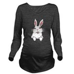 Easter Bunny Cute Po Long Sleeve Maternity T-Shirt