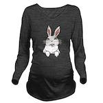 Pocket Easter Bunny Long Sleeve Maternity T-Shirt