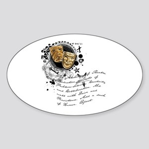 The Alchemy of Theatre Production Oval Sticker