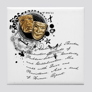The Alchemy of Theatre Production Tile Coaster