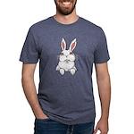 Pocket Easter Bunny Mens Tri-blend T-Shirt