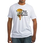 Jumping the Broom Son of the Groom Fitted T-Shirt