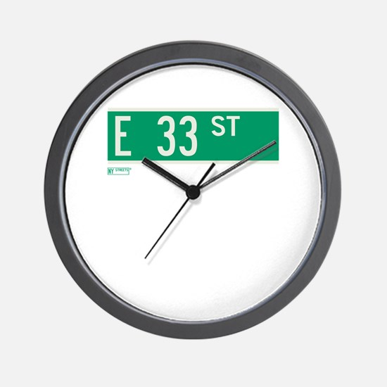 33rd Street in NY Wall Clock