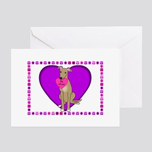 Greyhound Valentines (Pk of 10) Greeting Cards