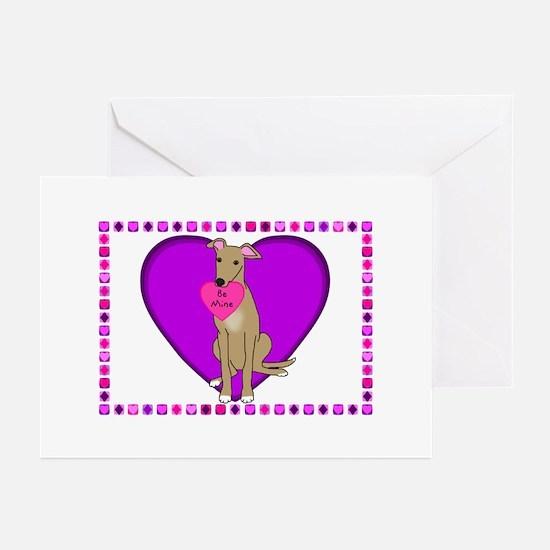 Greyhound Valentines (Pk of 10) Greeting Cards