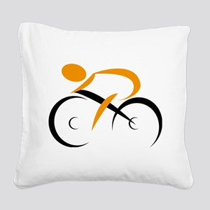 cycling Square Canvas Pillow