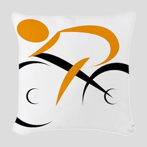 cycling Woven Throw Pillow