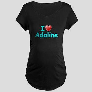 I Love Adaline (Lt Blue) Maternity Dark T-Shirt