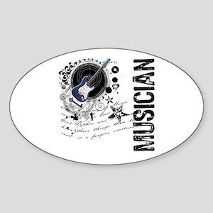 Musician Alchemy Oval Sticker