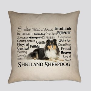 Tri-Color Sheltie Everyday Pillow