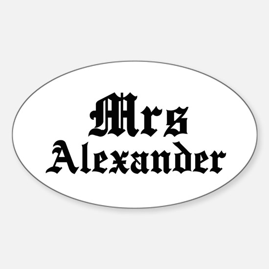 Mrs Alexander Oval Decal