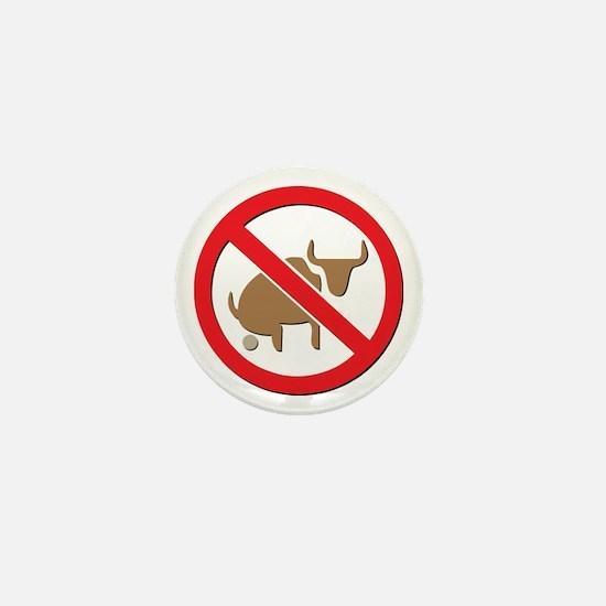 No Bull Mini Button