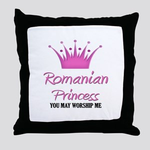 Romanian Princess Throw Pillow