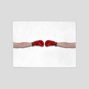 BoxingHandshake060910Shadow 5'x7'Area Rug