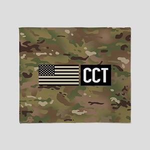 U.S. Air Force: CCT (Camo) Throw Blanket