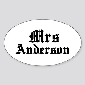 Mrs Anderson Oval Sticker
