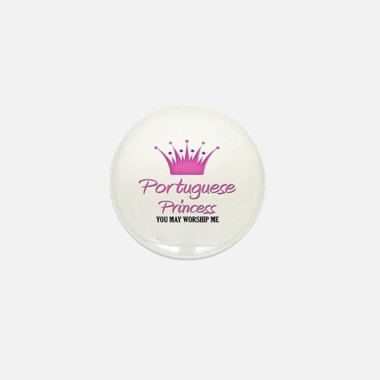 Portuguese Princess Mini Button