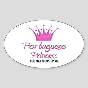 Portuguese Princess Oval Sticker