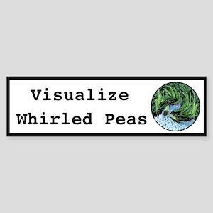 Visualize Whirled Peas Sticker (Bumper)
