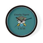 Charlie Tigers Wall Clock