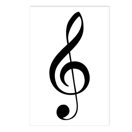 G Clef Postcards (Package of 8)