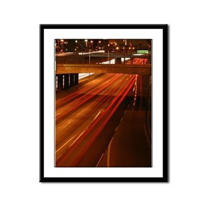 Downtown LA 101 Framed Panel Print