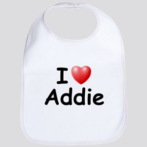 I Love Addie (Black) Bib