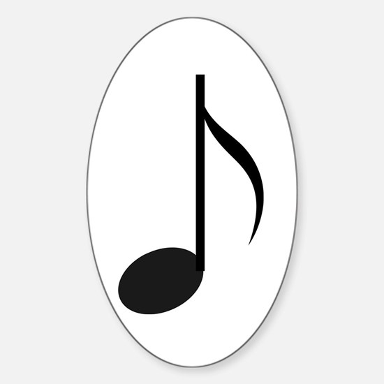 Eighth Note Oval Decal