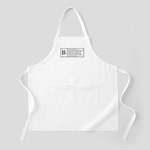 BOSS (WHITE) -- DEFINITION T- BBQ Apron