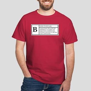 BOSS (WHITE) -- DEFINITION T- Dark T-Shirt