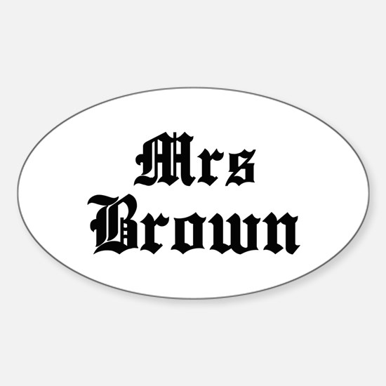 Mrs Brown Oval Decal