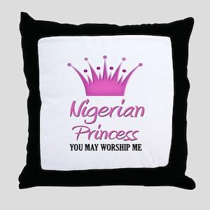 Nigerian Princess Throw Pillow