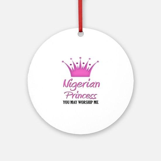 Nigerian Princess Ornament (Round)