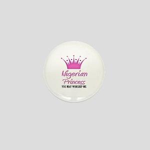 Nigerian Princess Mini Button
