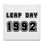 LEAP DAY 1992 Tile Coaster