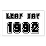 LEAP DAY 1992 Rectangle Sticker