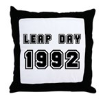 LEAP DAY 1992 Throw Pillow