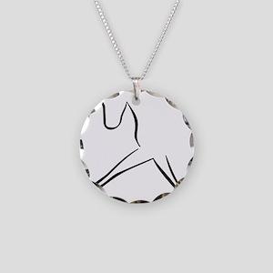 Pferd Necklace Circle Charm