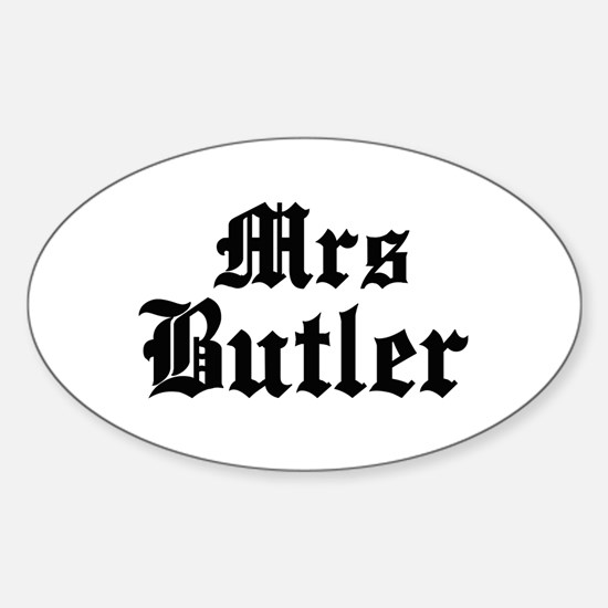 Mrs Butler Oval Decal