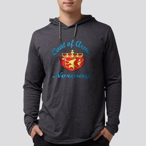 Coat Of Arms Norway Country Desi Mens Hooded Shirt