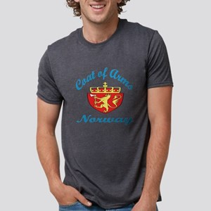 Coat Of Arms Norway Country Mens Tri-blend T-Shirt