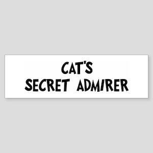 Cats secret admirer Bumper Sticker