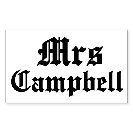 Mrs Campbell Rectangle Sticker