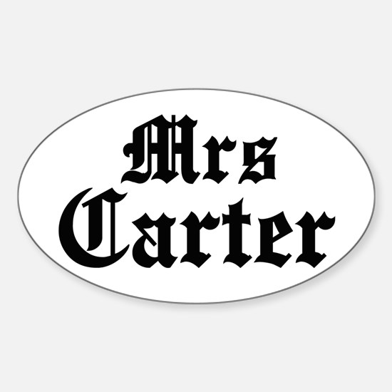 Mrs Carter Oval Decal