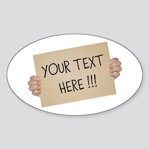 Cardboard Sign Template Sticker
