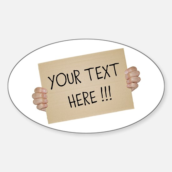 Cardboard Sign Template Decal