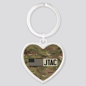 U.S. Air Force: JTAC (Camo) Heart Keychain