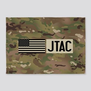 U.S. Air Force: JTAC (Camo) 5'x7'Area Rug